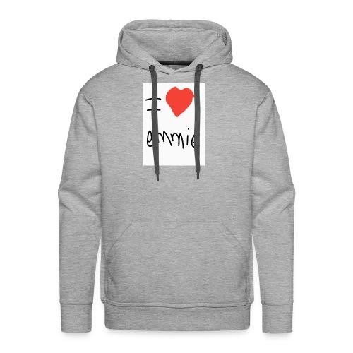 i love emmie - Sweat-shirt à capuche Premium pour hommes