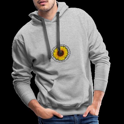 Sonnenblume - Männer Premium Hoodie