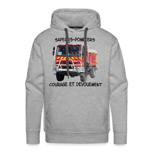 ccf courage et devouement - Sweat-shirt à capuche Premium pour hommes