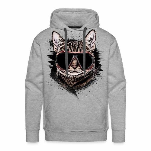 Krasse Taucher-Katze - Männer Premium Hoodie