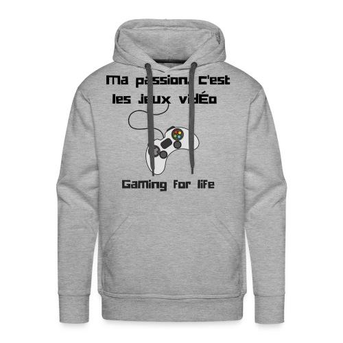 Design Gaming for life - Sweat-shirt à capuche Premium pour hommes