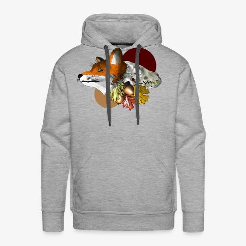 Autumn Foxey - Felpa con cappuccio premium da uomo