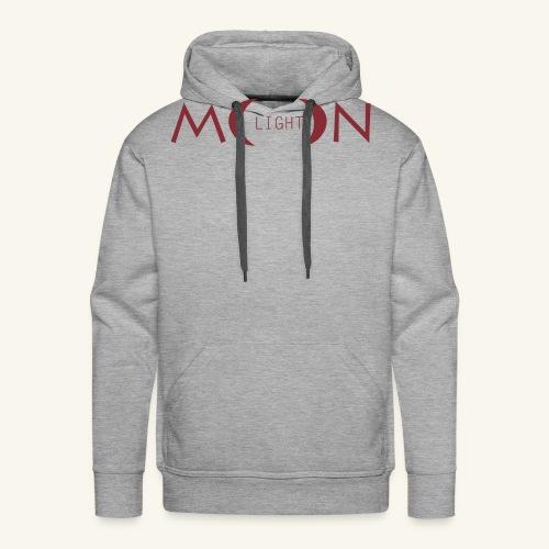 MoonLight bourdeaux - Felpa con cappuccio premium da uomo