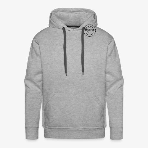 dcworkz. noir - Sweat-shirt à capuche Premium pour hommes