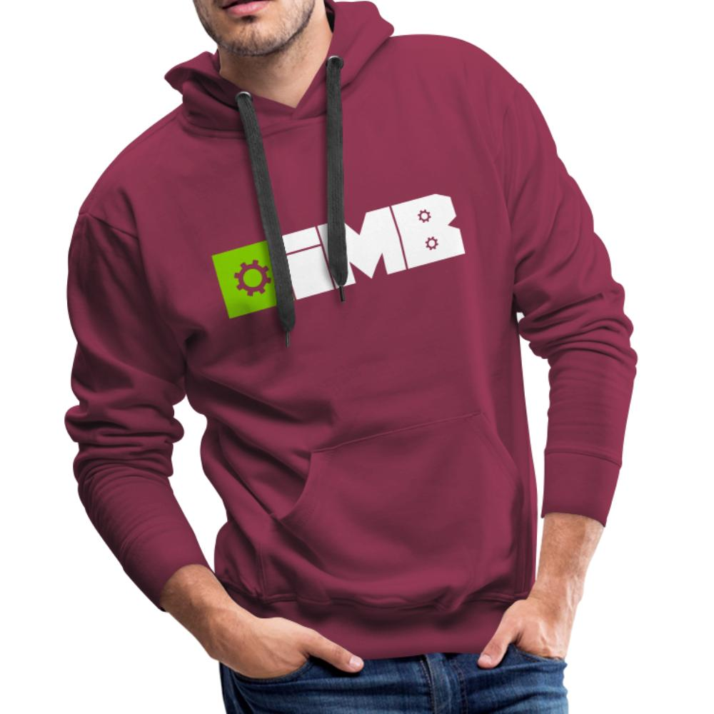 IMB Logo (plain) - Men's Premium Hoodie - bordeaux