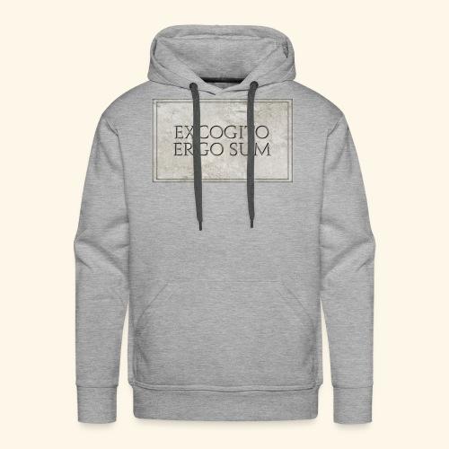 Excogitoergosum - Felpa con cappuccio premium da uomo