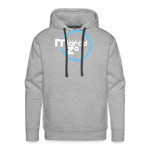 Logo White - DJ MARCOZA - Männer Premium Hoodie