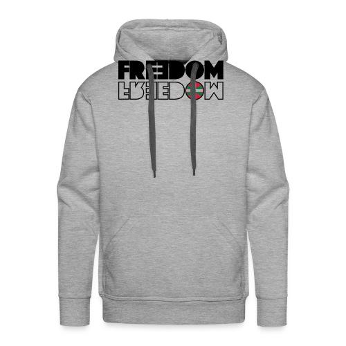 FREEDOM EUSKAL HERRIA - Sudadera con capucha premium para hombre