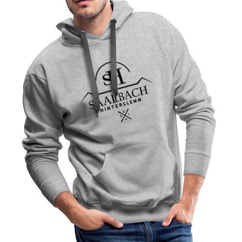 Saalbach embleem SKI-X - Mannen Premium hoodie