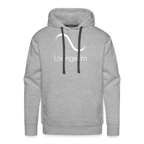 loungefm logo weiss - Männer Premium Hoodie