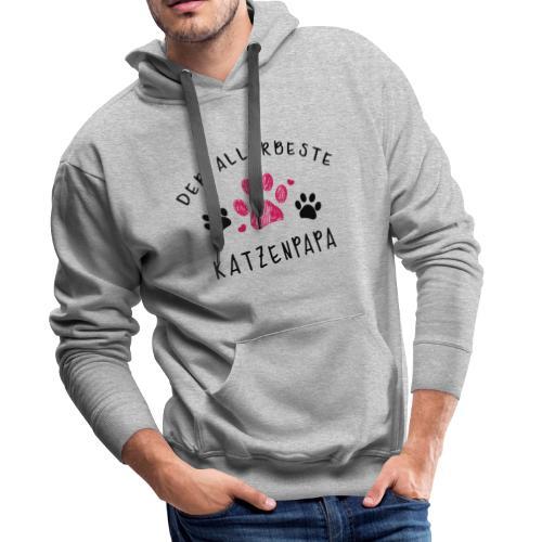 Der allerbeste Katzenpapa - Männer Premium Hoodie