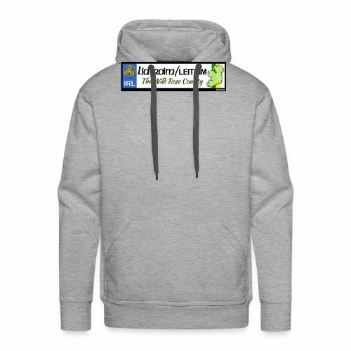 LEITRIM, IRELAND: licence plate tag style decal eu - Men's Premium Hoodie