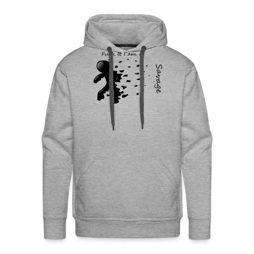 Savage Stick man Tee And Hoodie - Herre Premium hættetrøje