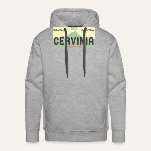 Plates II Cervinia - Felpa con cappuccio premium da uomo