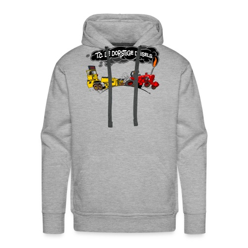 tc de dorstige diesels ACHTERKANT - Mannen Premium hoodie