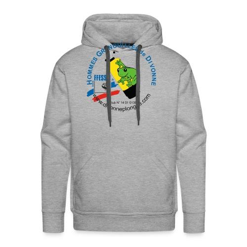 Hommes Grenouilles de Divonne - Sweat-shirt à capuche Premium pour hommes