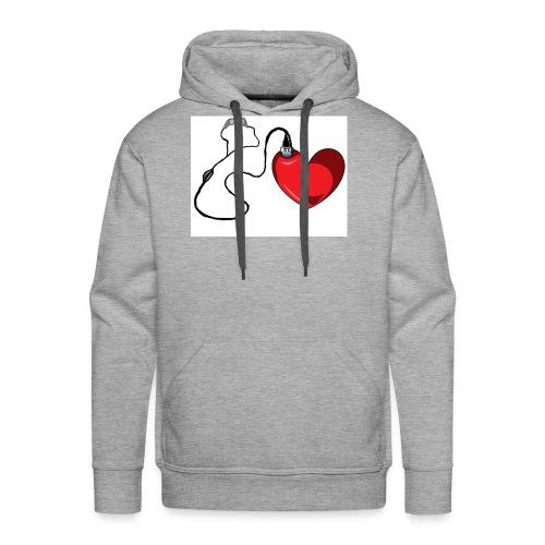 corazón con audífonos llenos de amor - Sudadera con capucha premium para hombre