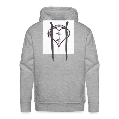 love music - Sweat-shirt à capuche Premium pour hommes
