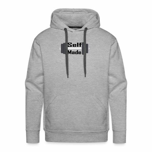 Self Made Black Text - Men's Premium Hoodie