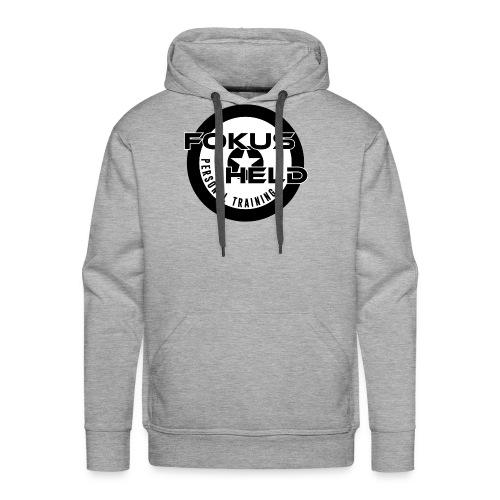 black&white FOKUS HELD - Männer Premium Hoodie