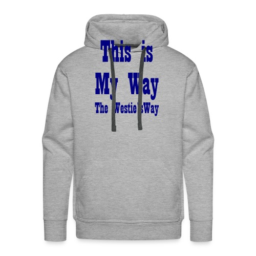 This is My Way Navy - Men's Premium Hoodie