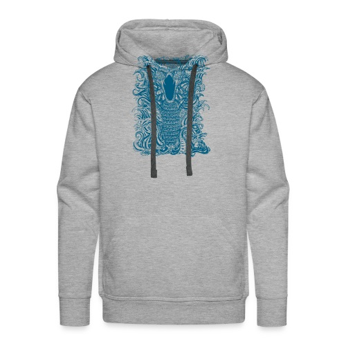 Snake-and-Water-in-Blue - Sudadera con capucha premium para hombre