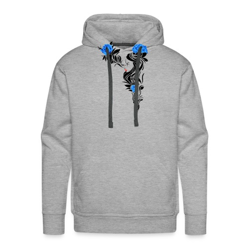 Blue Flowers - Sudadera con capucha premium para hombre