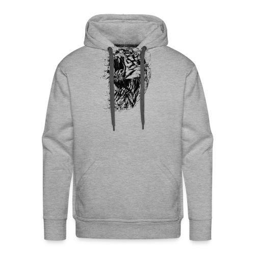 Lion Raw - Männer Premium Hoodie