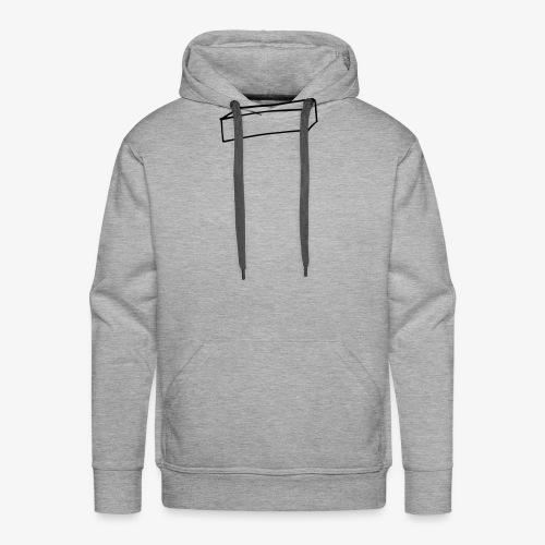 Cube allongé - Sweat-shirt à capuche Premium pour hommes