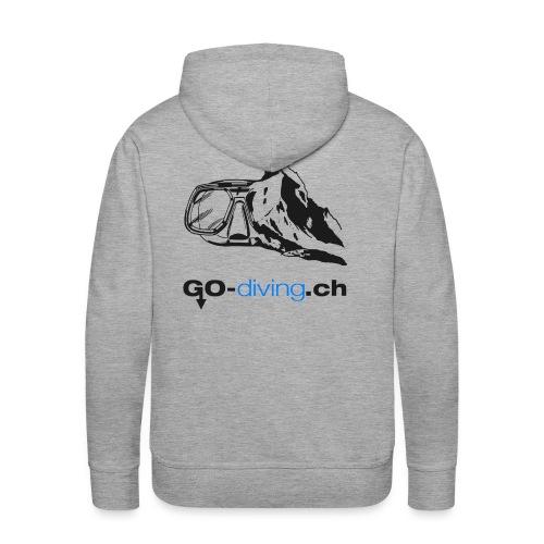 Go-Diving - Sweat-shirt à capuche Premium pour hommes