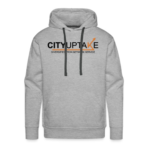 CITYUPTAKE´S main logo (with text) - BLACK - Men's Premium Hoodie