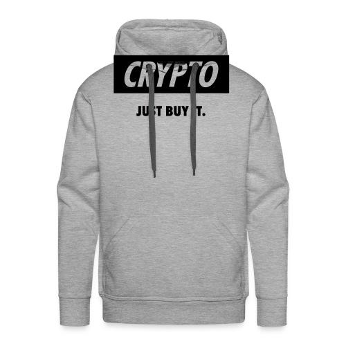 Crypto - Just buy it | Black - Men's Premium Hoodie
