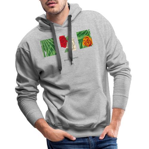 Urban Jungle | Flower Squares - Männer Premium Hoodie