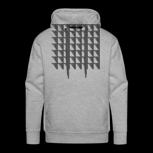 Checkered Pattern - Bluza męska Premium z kapturem