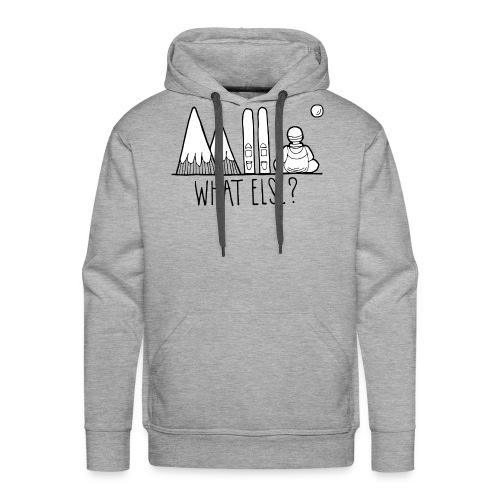 ski et montagnes what else - Sweat-shirt à capuche Premium pour hommes