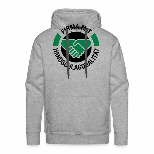 Handschlagqualität Logo schwarz - Männer Premium Hoodie