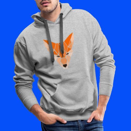 renard (collection Sauvage) - Sweat-shirt à capuche Premium pour hommes
