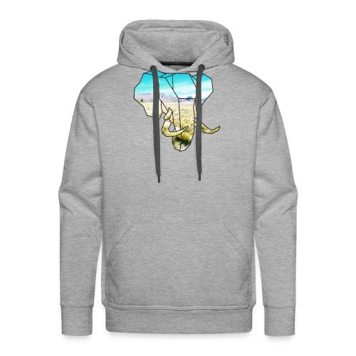 Elefant mit Steppe - Männer Premium Hoodie