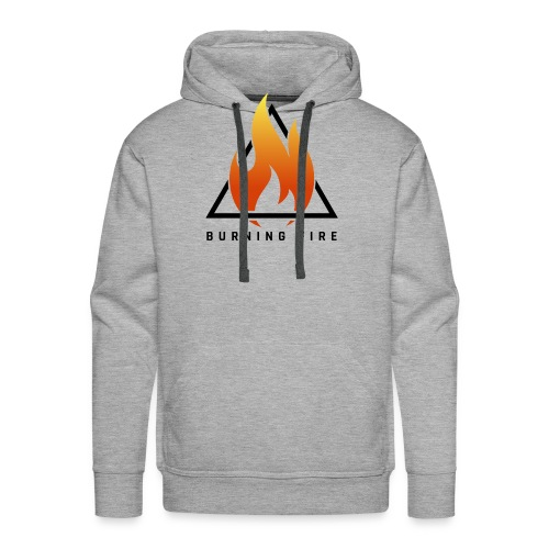 BURNING FIRE Logo - Herre Premium hættetrøje