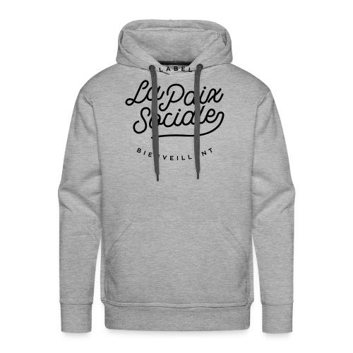 La paix sociale - label bienveillant - Sweat-shirt à capuche Premium pour hommes