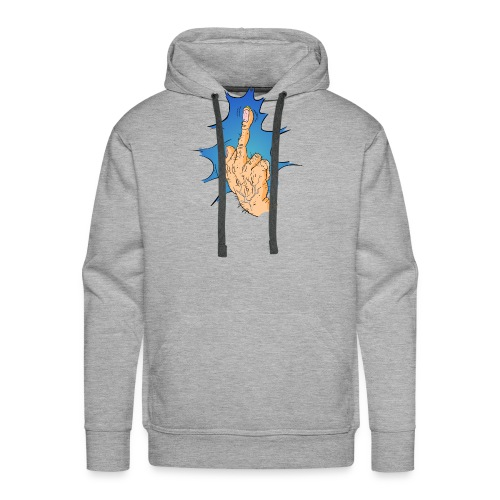 The Big Middle Finger - Mannen Premium hoodie