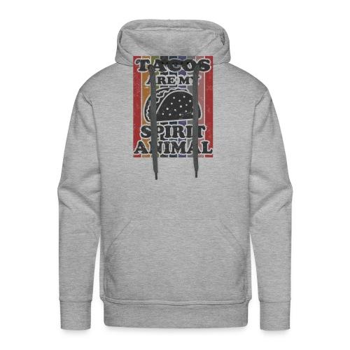 tacos are my spirit animal - Mannen Premium hoodie
