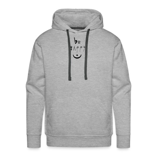 Be happy - Sweat-shirt à capuche Premium pour hommes