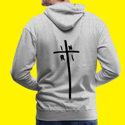 Cross - INRI (Jesus of Nazareth King of Jews) - Men's Premium Hoodie