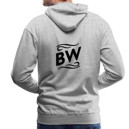Black BW logo - Premiumluvtröja herr