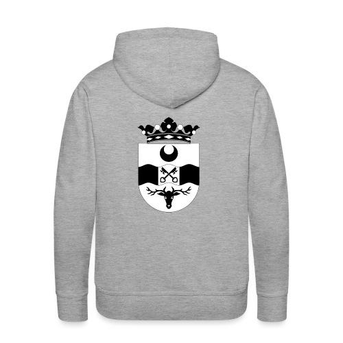 Leidschendam oude wapen zwart wit - Mannen Premium hoodie