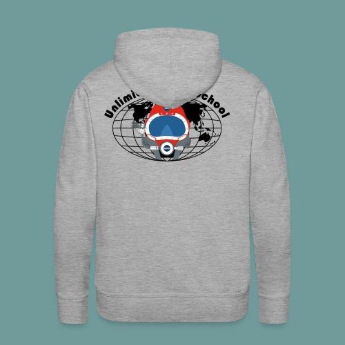 Sweat UDS grey - Sweat-shirt à capuche Premium pour hommes