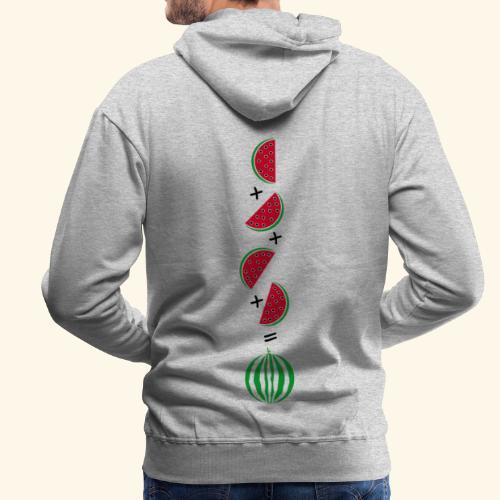 Un cuarto de sandía - Sudadera con capucha premium para hombre
