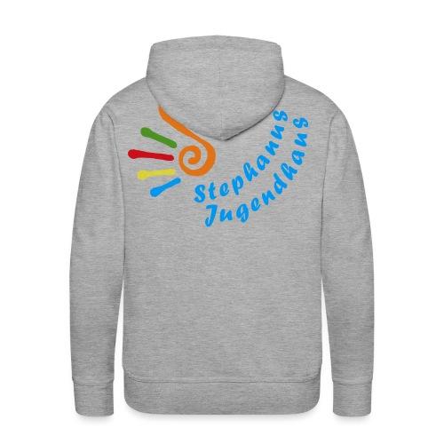 Stephanus Jugendhaus Logo 6 10 trans png - Männer Premium Hoodie