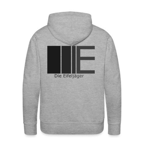 DieEifeljägerLogo5 schwarz weiß png - Männer Premium Hoodie